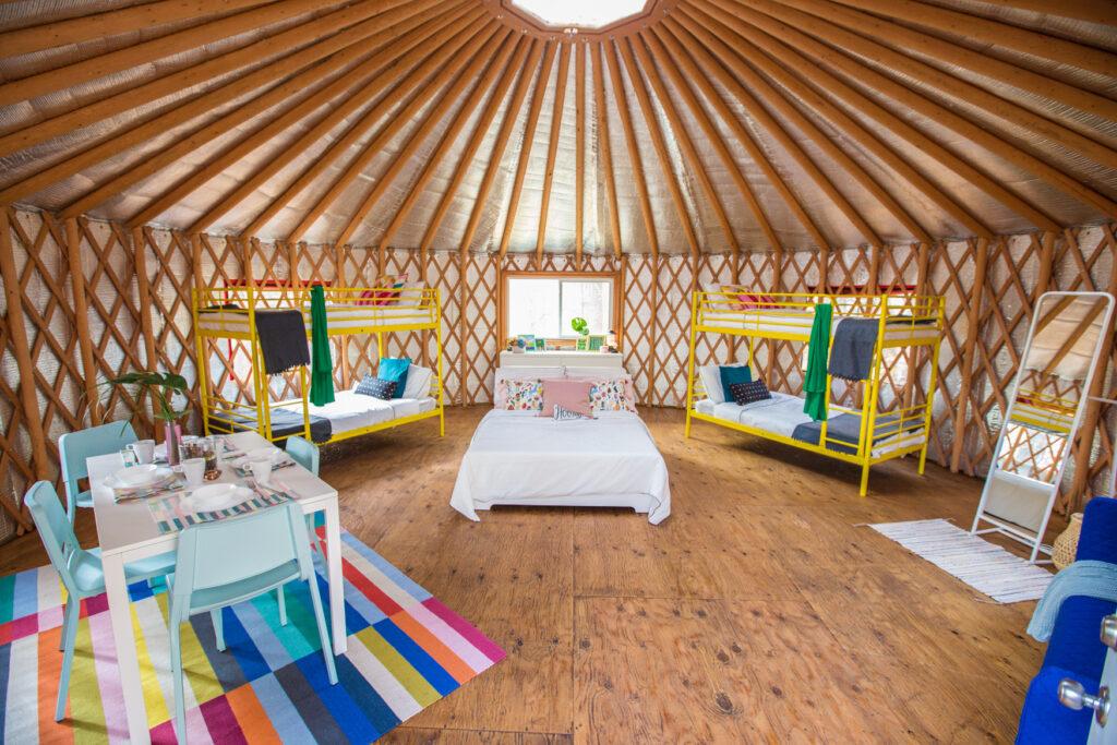 Modern Yurt interior